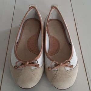 Nicole leather and suede ballet flats 🌸